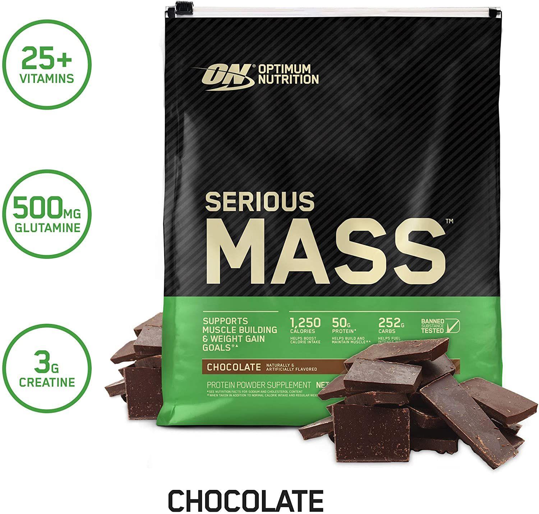 Optimum Nutrition Serious Mass Weight Gainer Protein Powder Vitamin C Zinc And Vitamin D Best Bodybuilding Supplements Optimum Nutrition Gain Muscle