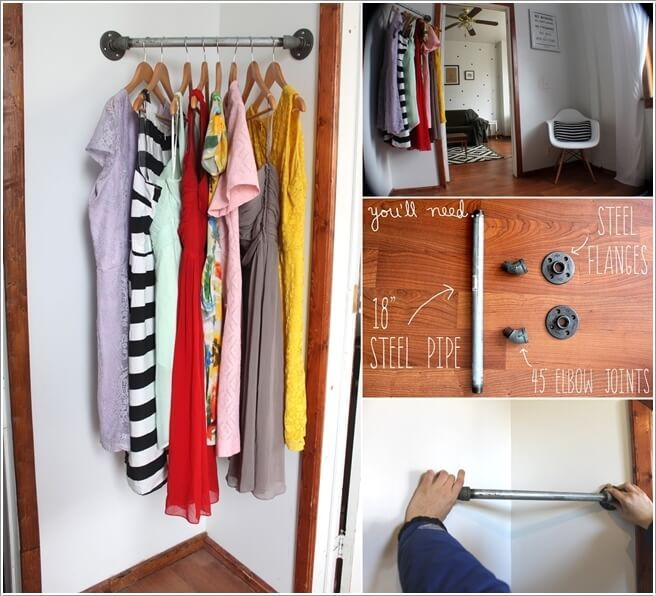 10 Cool And Clever Diy Corner Closet Ideas 2