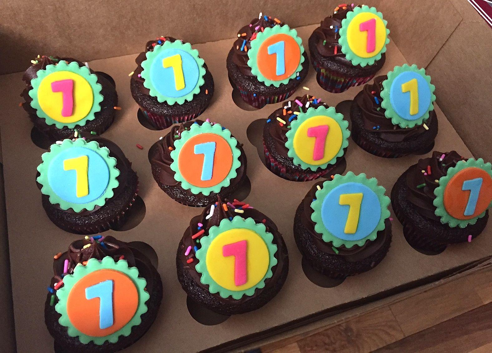 7th Birthday Cupcakes Cupcakes Birthday Seven Chocolate Kids