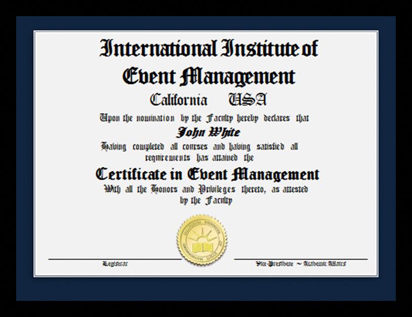 Event Planning Certification Program Complete In 3 Months Study Online Online Event Planning Certification Event Management Courses Event Planning Courses