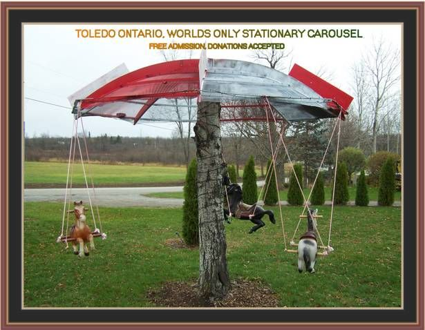 Our homemade carousel Diy Carnival, Carnival Rides, Carnival Birthday Parties, Kids Ride On