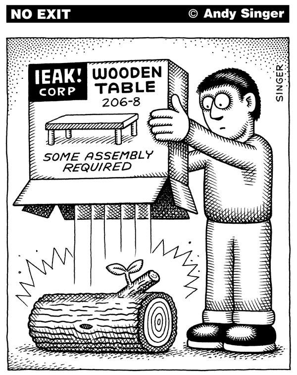 Andy Singer - Politicalcartoons.com - Some Assembly Required - English -  Ikea,ikea,furniture,kit,kits,assembly,assemble,assembled,doityourself,self,service  ...