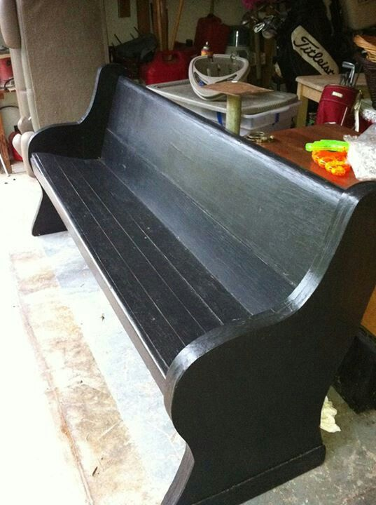 Painted Church Pew Ideas Porch Bench