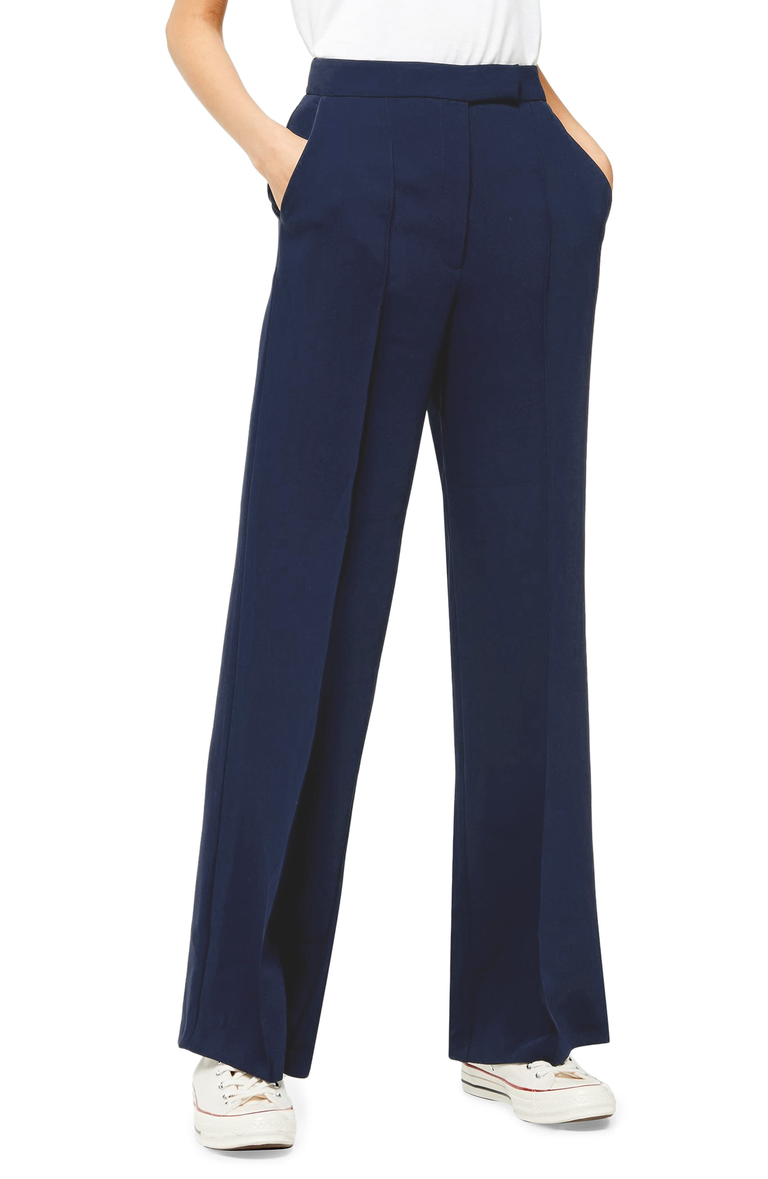 Blue wide leg trousers in size 10 and 12 new