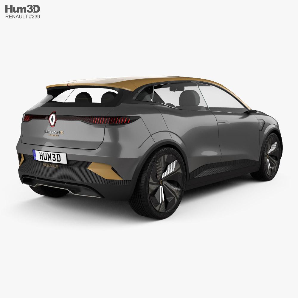 3d Model Of Renault Megane Evision 2020 Renault Megane 3d Model Renault