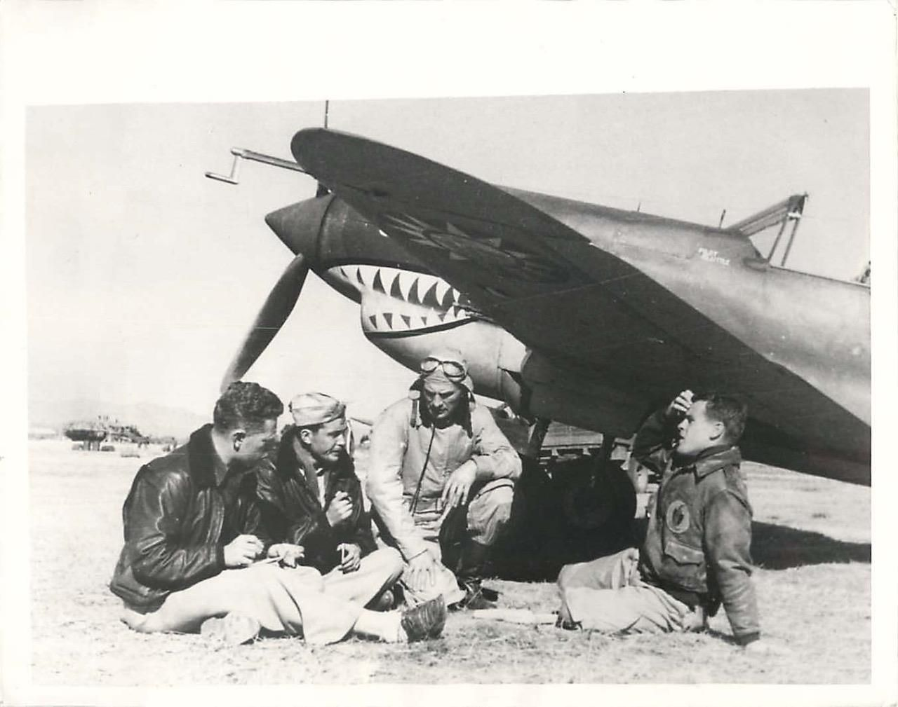 Flight Leader,P40 Kunming 1st Squadron,AVG,Dick Rossi Flying Tigers China,