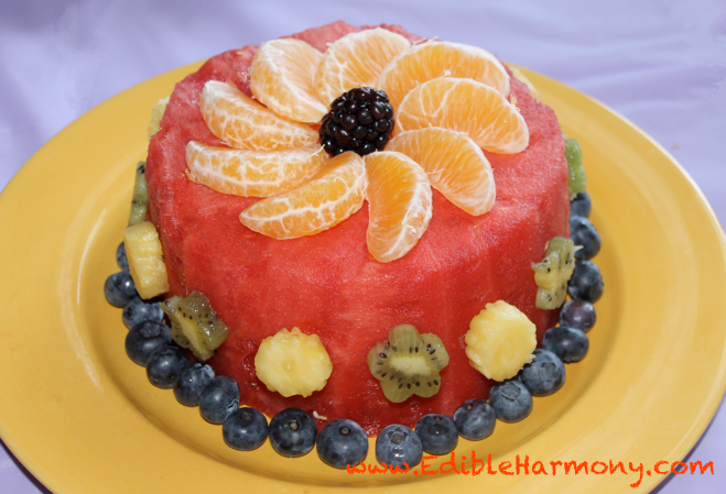 Fresh Fruit Cake Made entirely with fruit Great for those with