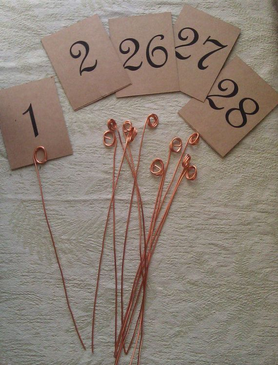 Copper wire table number holders and card by kristinakraemershop copper wire table number holders and card by kristinakraemershop 1000 wedding sciox Images