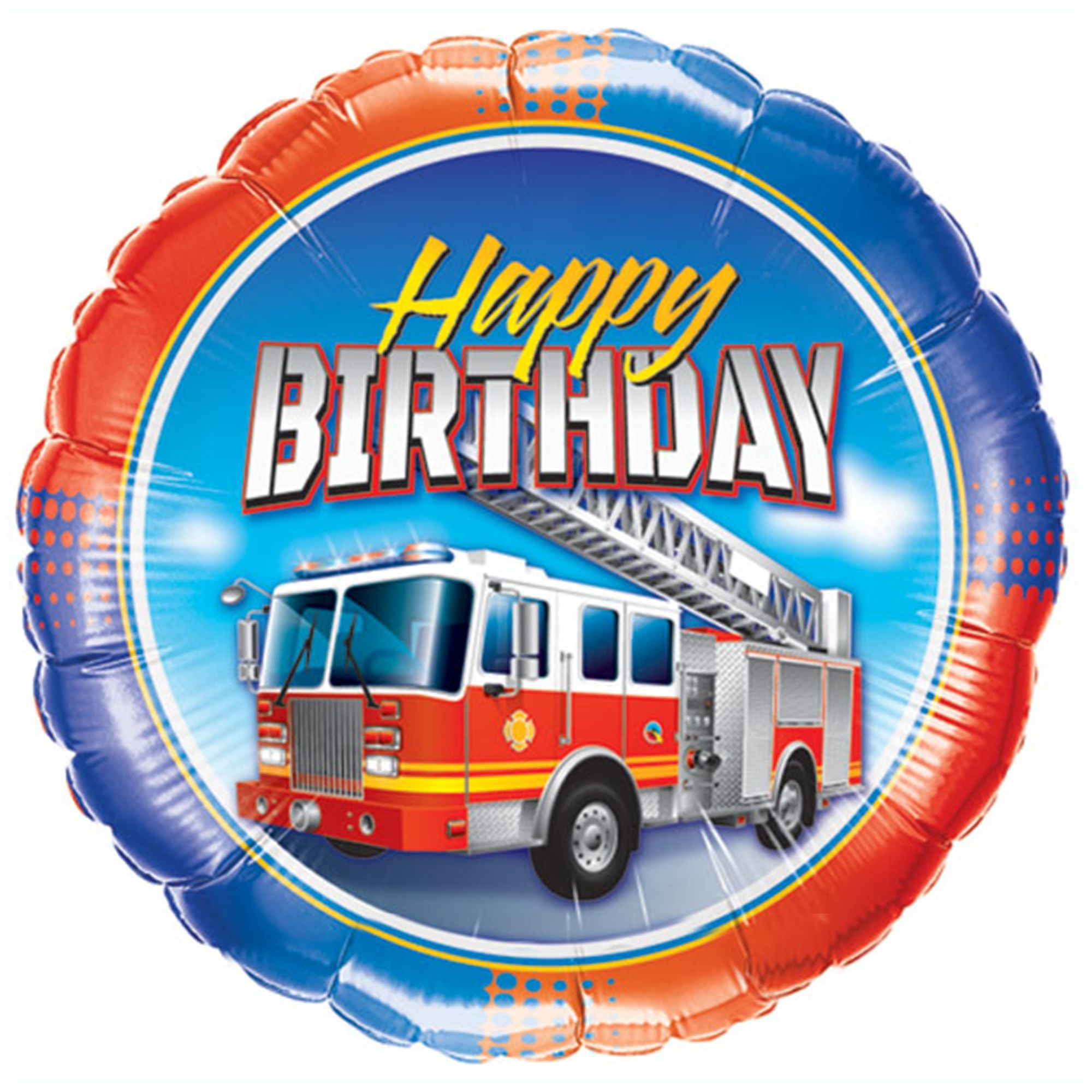 Say Happy Birthday With A Large Bold Fire Truck Balloon With