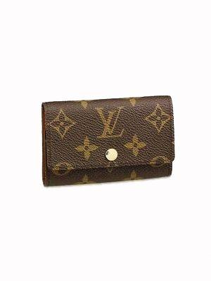 f58b61c051de2 Louis Vuitton Monogram Canvas 6 Key Holder Brieftasche