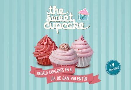 Un Sweet Cupcake para San Valentín  Bs. 50 en vez de Bs. 100 por 6 Cupcakes en Cajita de regalo de Sweet Cupcakes