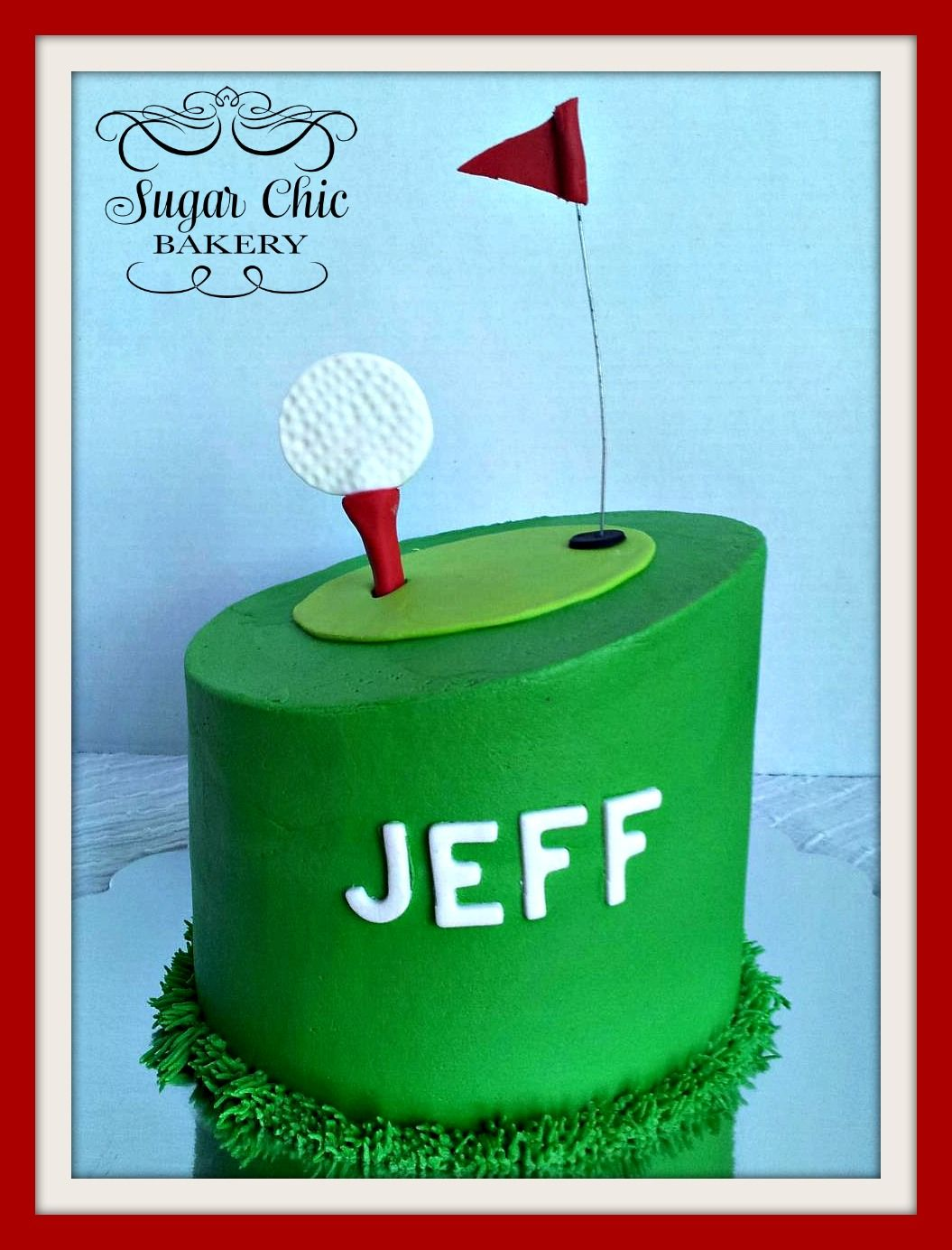 Small Golf cake for Grandpas birthday Needs something extra