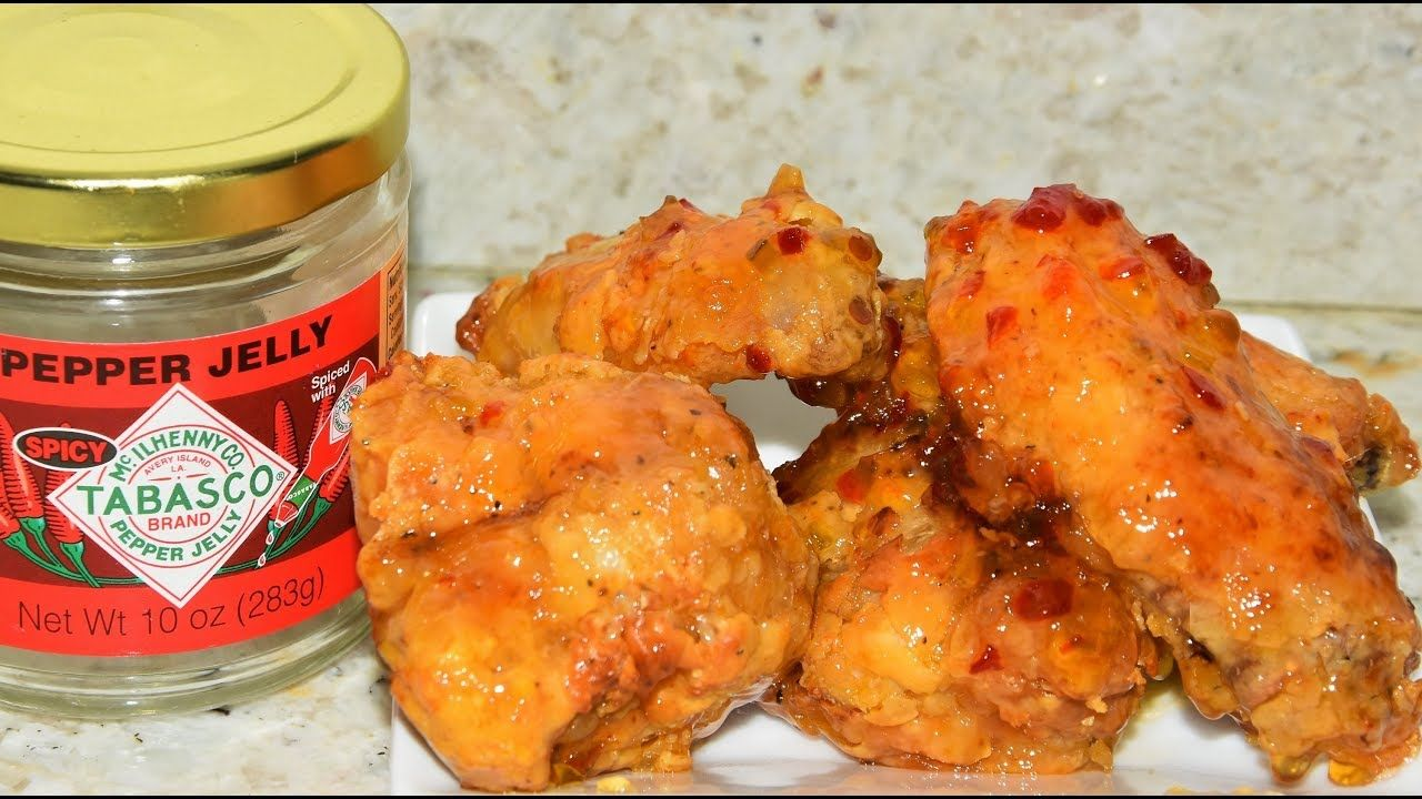Air Fryer Tabasco Jelly Chicken Wings - Air Fried Chicken ...