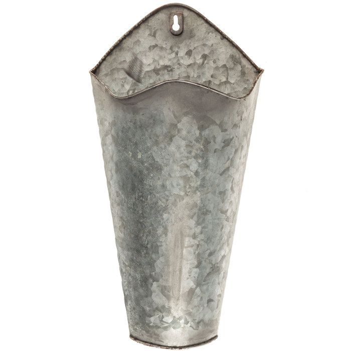 Galvanized Metal Wall Container Hobby Lobby 1086750 Metal Wall Planters Galvanized Metal Wall Galvanized Wall Planter