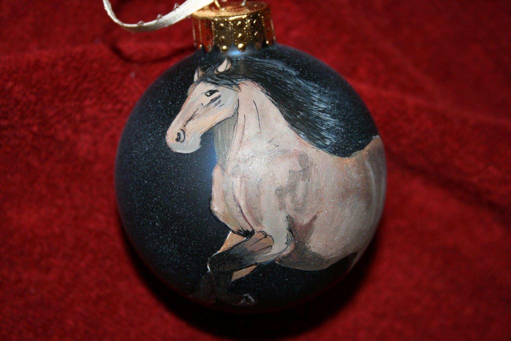 Hand Painted Horse Ornament Use Pencil Then Build Up Pain