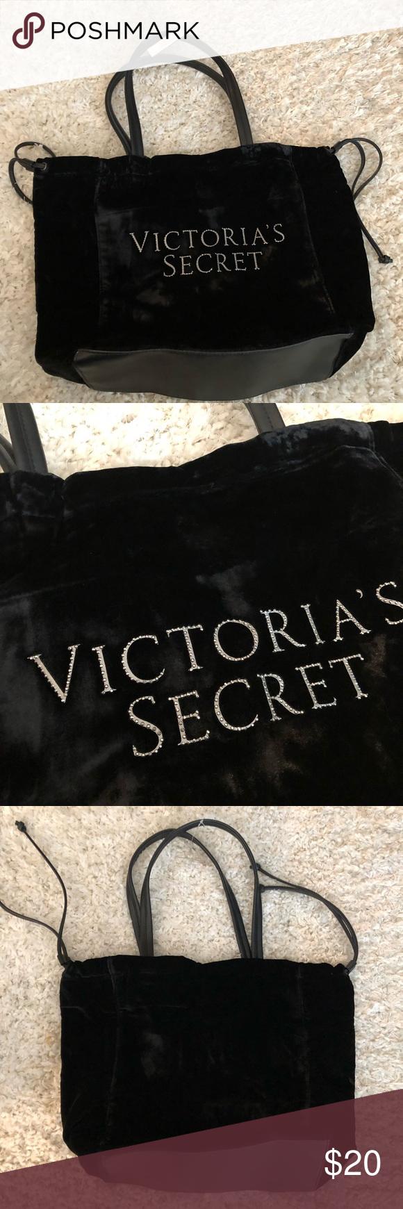 Victoriaus secret velour tote bag nwt nwt in my posh closet