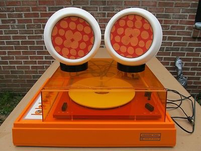 1972 Voice Of Music Model 346 1 Orange Peel Turntable With Stereo Speakers Listen To The Turntable Here Stereo Orange Peel Record Player