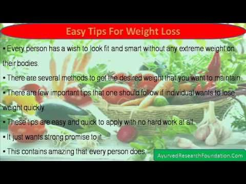 This video describes about easy and quick tips for weight loss.