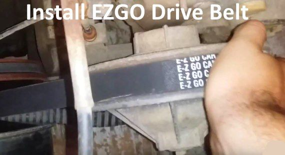 How To Install Ezgo Drive Belt On Gas Golf Cart Video Gas Golf Carts Golf Carts Electric Golf Cart