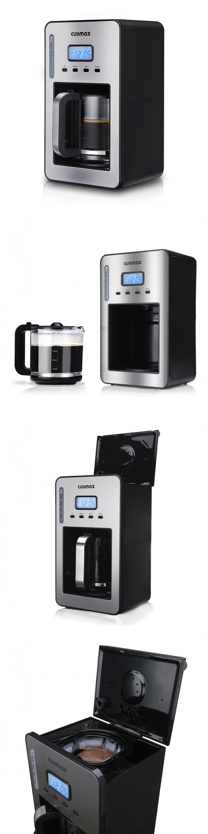 Appliances cusimax w cup programmable coffee maker with lcd