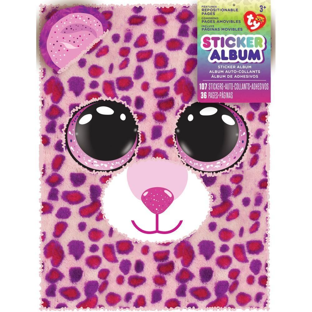 Beanie Boos® Plush 3D Kids Sticker Album Glamour™ the Leopard ... b739afb5ca2e