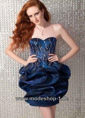 Ballon Kleid Cocktailkleid 2019 in Blau (mit Bildern ...