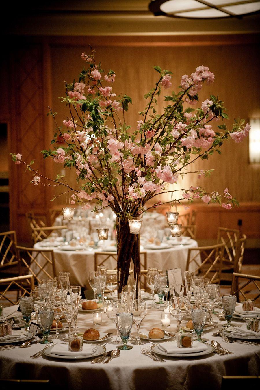 Orange traditional wedding decor  Traditional Ballroom Wedding at the RitzCarlton  Morning