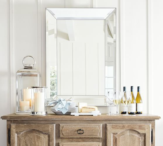 Bevel Rectangular Mirrors Pottery Barn Beveled Mirror Mirror