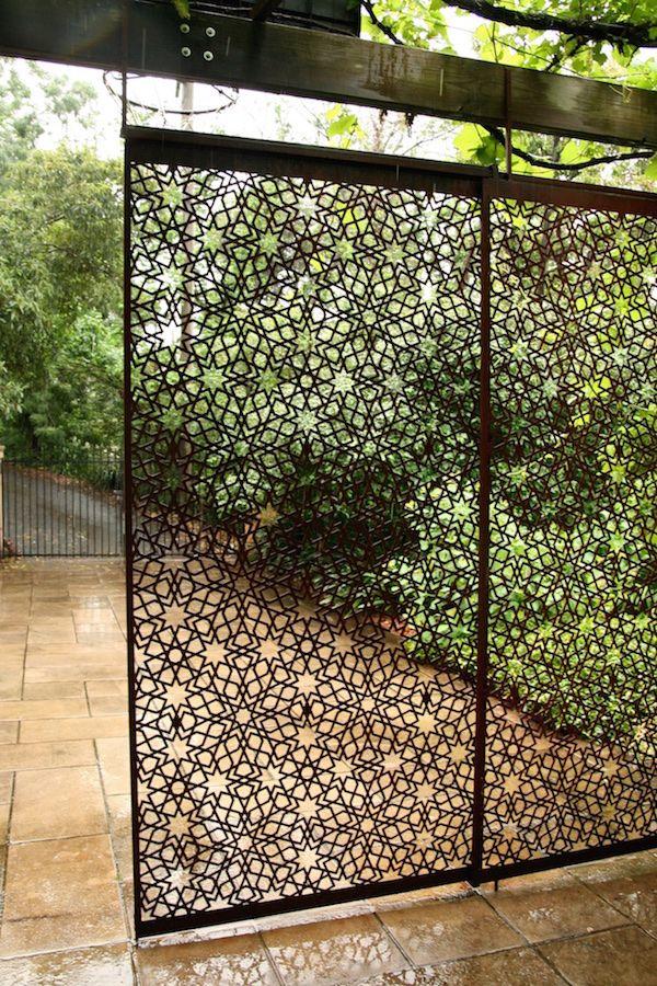 Moroccan Inspired Garden Screen