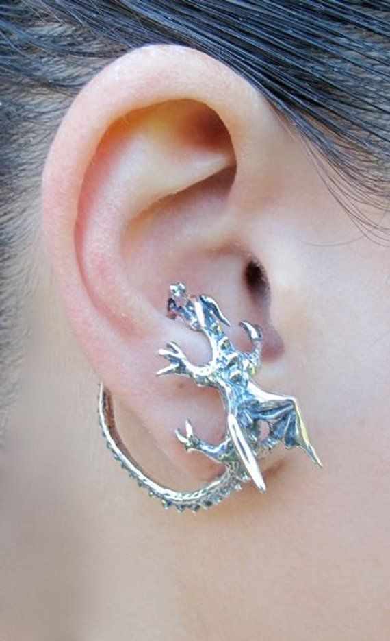 514311a04 Dragon Ear Cuff Silver Dragon Whisperer Hoop Dragon Ear Wrap Game of  Thrones Inspired Jewelry Non-Pi