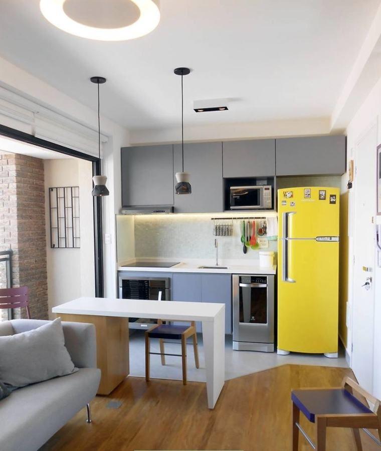 Como decorar uma cozinha pequena cozinha cocina cocina - Decoracion cocina pequena apartamento ...