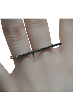 Adjustable Black Diamond Ring