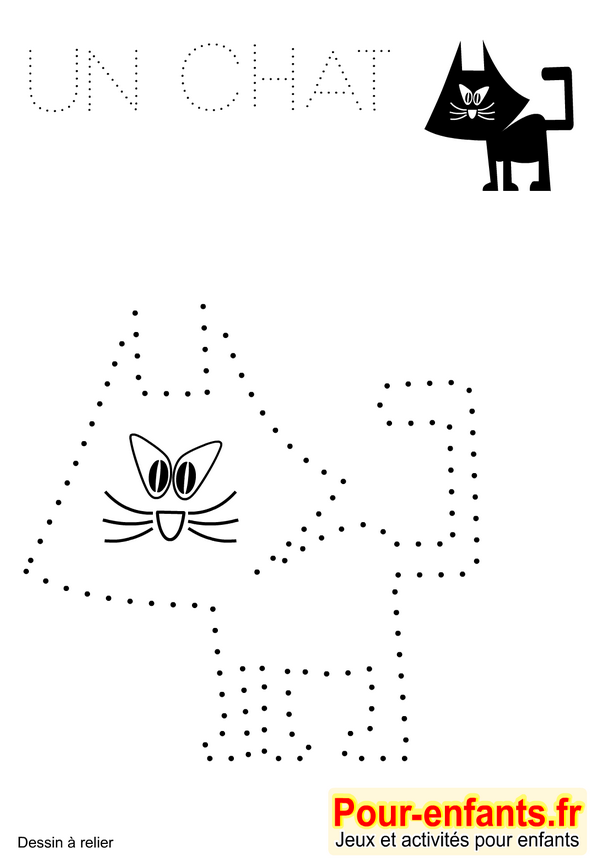 jeux imprimer maternelle dessin de chat jeu dessins a relier - Jeux Gratuit De Dessin