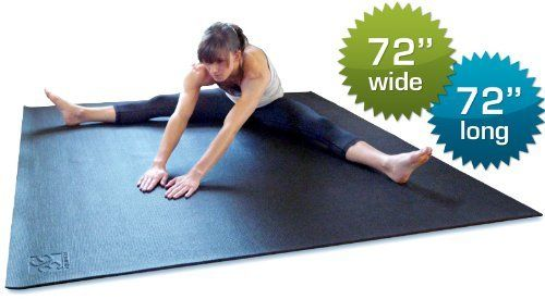Square36 Premium Black 1 4 Inch Extra Thick 72 Inch Long By 72 Inch Wide Square High Density Exercise Yoga Mat W Fun Workouts Large Workout Mat Mat Exercises