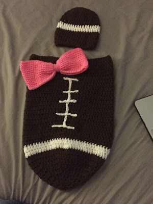 Crochet Football Cocoon Yarn Needle Crochet Hooks And Scissors