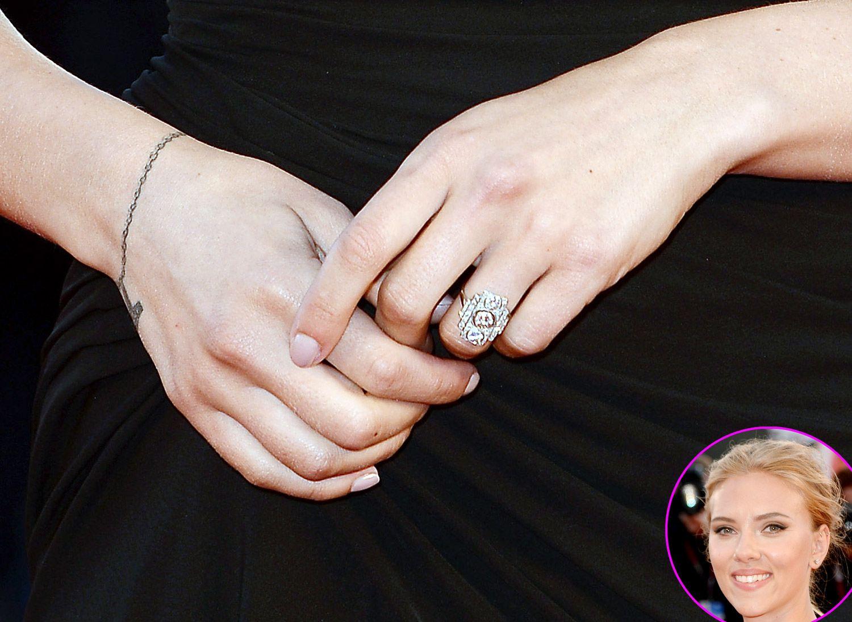 Scarlett Johansson Engagement Ring Showdown! Fiance Romain