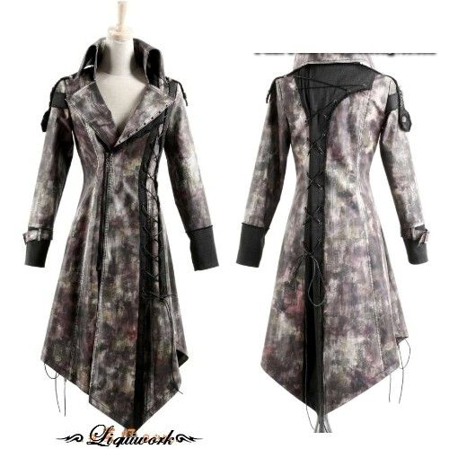 Vintage Goth Gothic Vampire Emo Style Leather Coats Men Women SKU-11401138 343abec1b