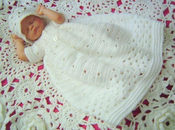 Micro Preemie Christening Set,Premature Baby,Miniature Pattern ...