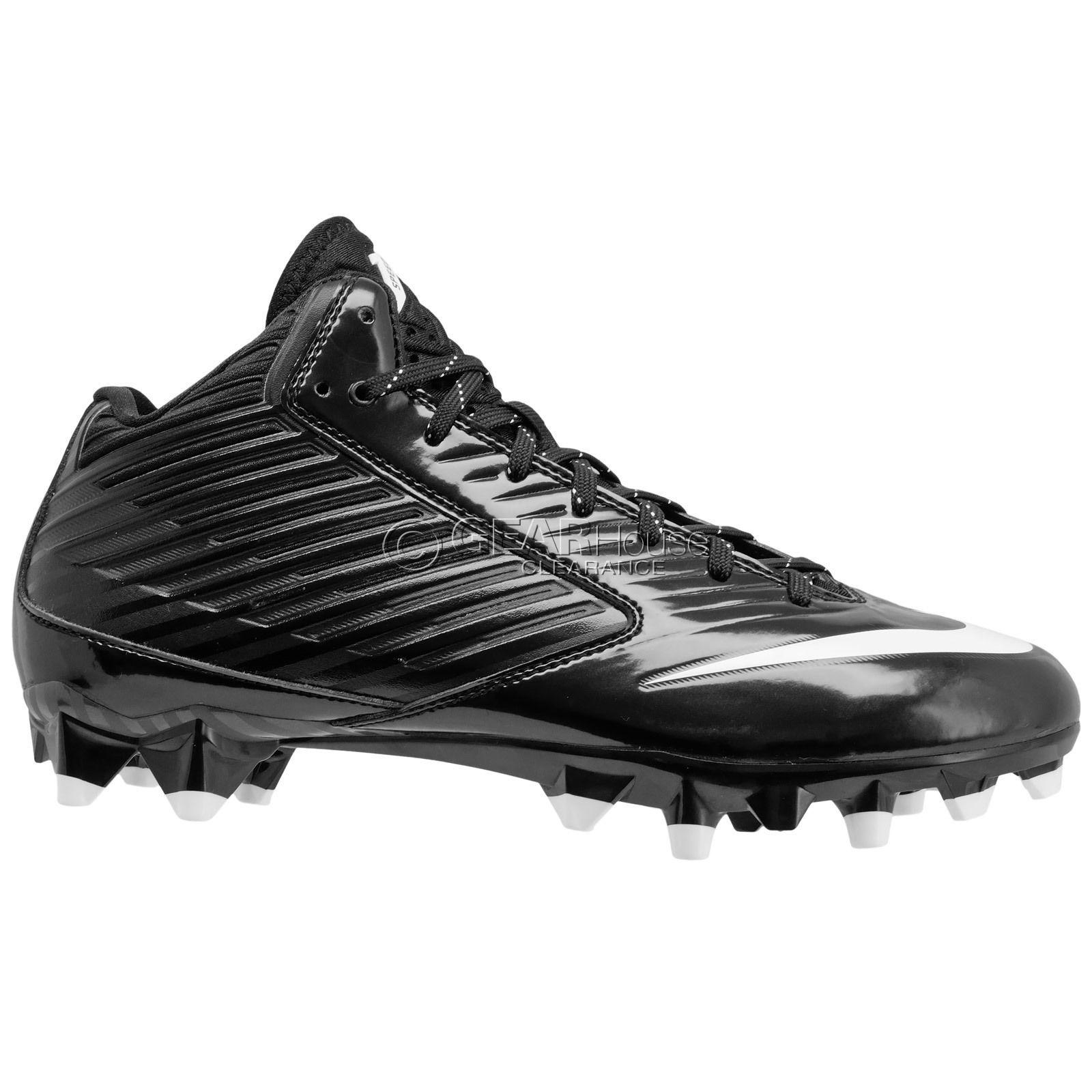 New Nike Vapor Speed 3/4 Mid TD Mens Football Cleats : Black