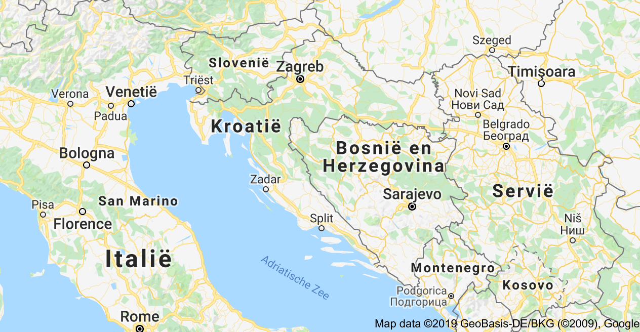 Kaart Van Kroatie Kroatie Zadar Zagreb