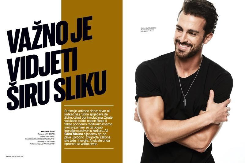 Clint Mauro for Men's Health Croatia (Various Editorials)
