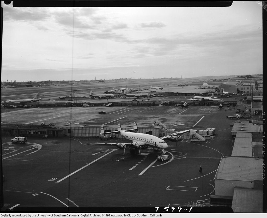 Aerial view LAX, 1961