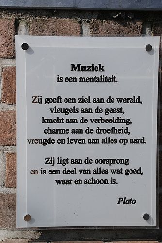 Citaten Muziek : Muziek is een mentaliteit plato by johan vandamme via