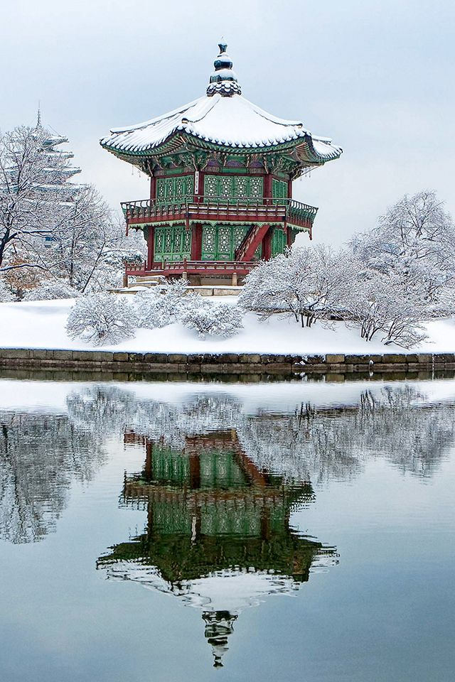 South Korea Gyeongbokgung Wallpaper Iphone Wallpaper Korea