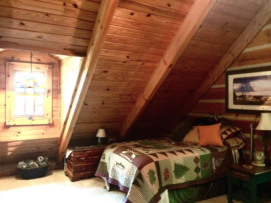 Loft Bedroom in Southland Log home now available in