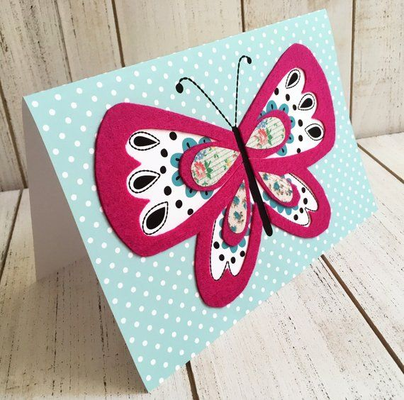 handmade butterfly card with images  butterfly cards