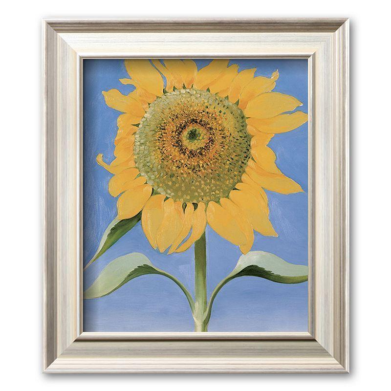 Art.com Sunflower, New Mexico, c. 1935 Framed Art Print by Georgia O'Keeffe, Multicolor , Small