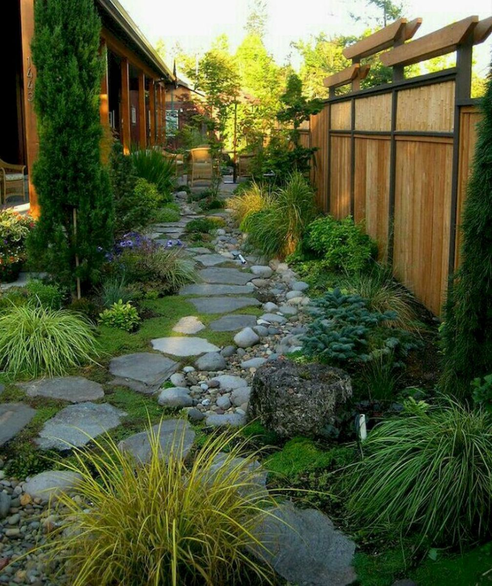 14 Small Yard Landscaping Ideas To Impress: Low Maintenance Front Yard Landscaping Ideas (38