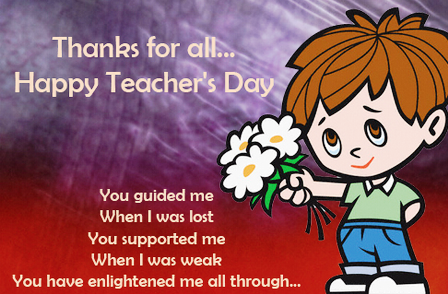Sample Teachers Day Speech By Student In Hindi English  Projects