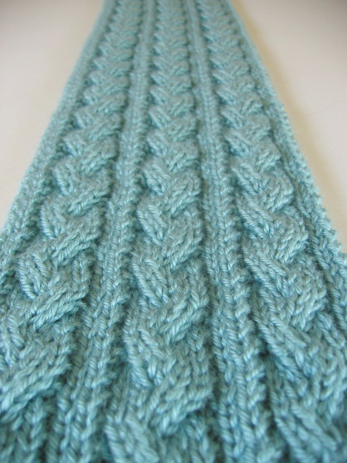 Braid Cable Scarf free knitting pattern. Note: repeat step one * to ...